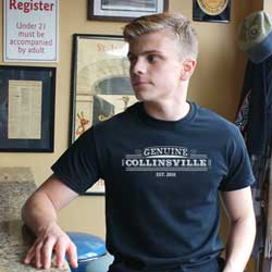 Genuine Collinsville Tshirt, black